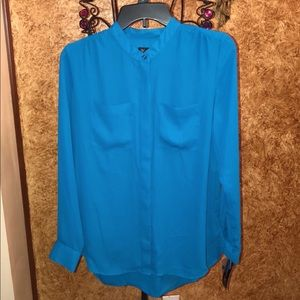 INC International Concepts Tops - ❤️ NEW WITH TAG BLUE BUTTON BLOUSE